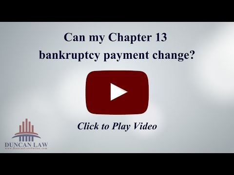 Can my chapter 13 bankruptcy payments go down if i lose my job?