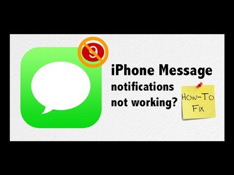 Are you not getting text or message notifications, alerts, or sounds on iphone? how to fix