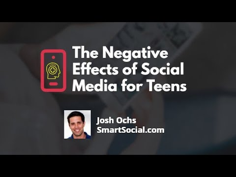 The negative effects of social media for teens by smartsocial.com