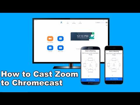 How to cast zoom to chromecast