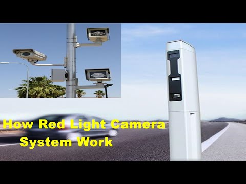 How red light camera systems work (traffic signal camera)