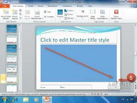 Using powerpoint 2010 - insert a placeholder