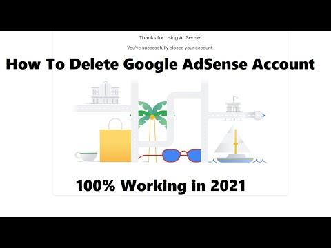 How to delete google adsense account