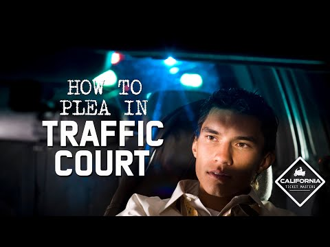 How to plea in traffic court!