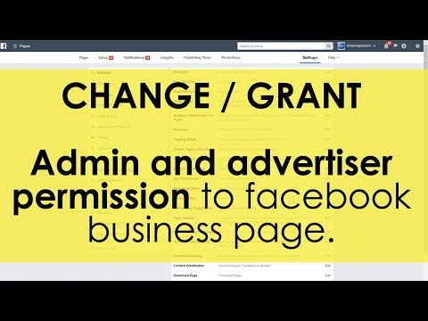 How to: grant admin and advertiser permission to facebook business page