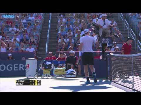 2015 atp rogers cup final highlights - novak djokovic v andy murray