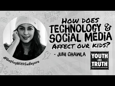 Are phones & social media bad for kids? juhi chawla asks sadhguru