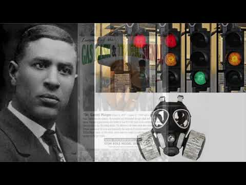 Garrett morgan's inventions: smoke hood, traffic light with three colors, hair care products, others