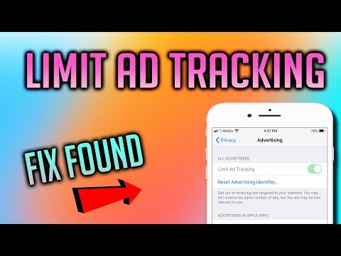 How to turn off limit ad tracking on ios 12! fix found! greyed out?