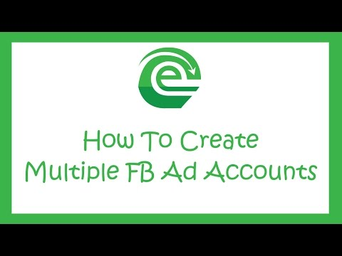 How to create multiple ad accounts with facebook business manager