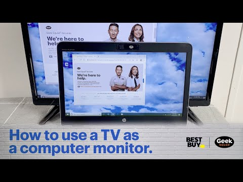 Tech tips remote: how to use a tv as a computer monitor.