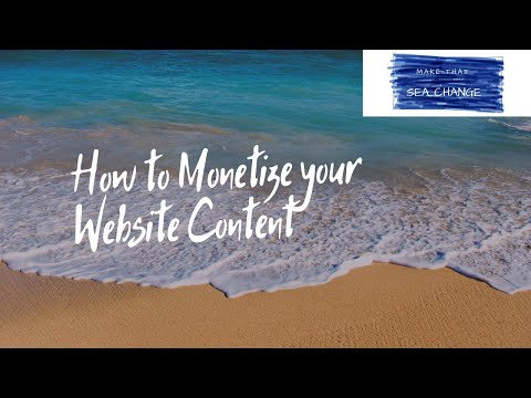 How to monetize your website content