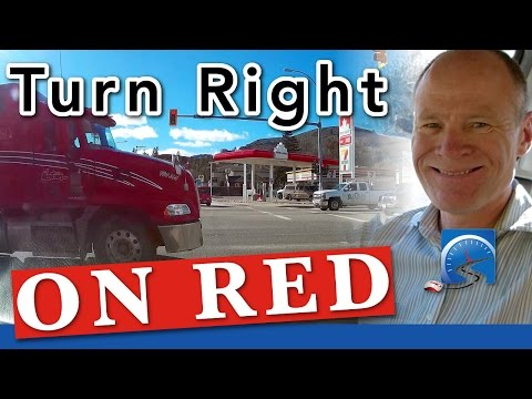 How to turn right at an intersection on a red light