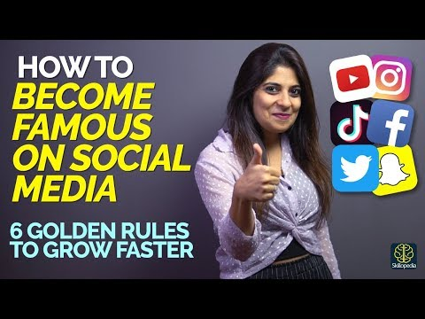 How to become famous on youtube, instagram, tiktok   6 tips to grow on social media faster