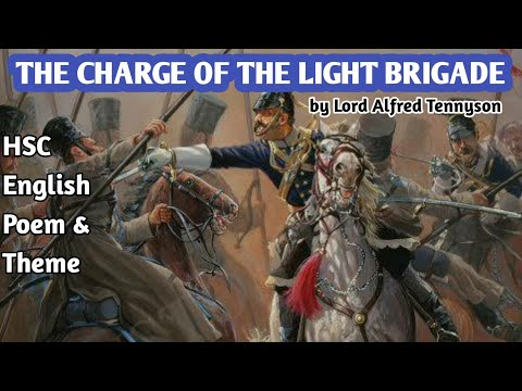The charge of the light brigade by lord alfred tennyson   hsc english first paper   poem & theme
