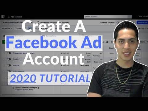 How to create a facebook ads account | 2020 tutorial creating facebook ads account
