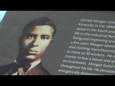 Invention of the traffic light by garrett morgan was in cleveland in 1923