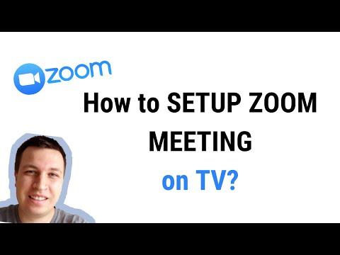 How to setup zoom on tv?