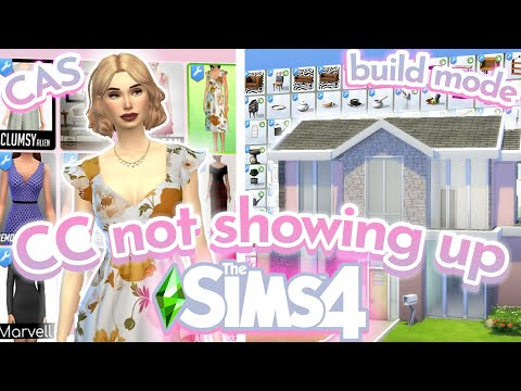 Sims 4 cc not showing up in cas / build mode 2021   fix sims 4 custom content not working   ts4