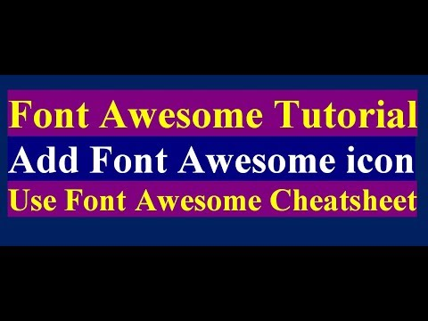 How to use font awesome icons in html offline | how to use font awesome icon as css content