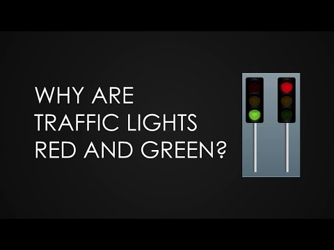 Why are traffic lights red and green?