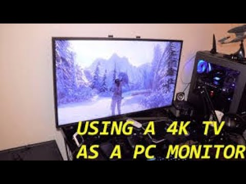 How to use your tv as a monitor for your computer - tutorial