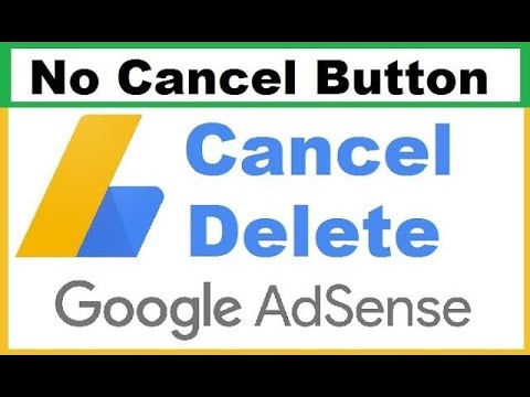 How to delete google adsense account no cancel option 2020   adsense account fix 2020