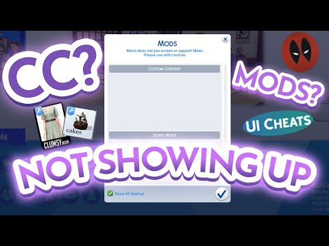 Sims 4 cc (custom content) & mods not showing up in game (cas/ build mode)   sims 4 fix 2020