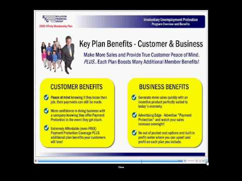 Protect customer's financing payments from unemployment and the recession