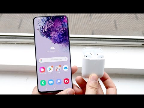 How to connect airpods to samsung galaxy s20, galaxy s20 & galaxy s20 ultra!
