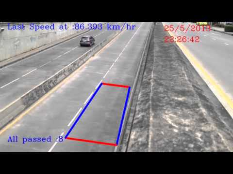 Speed camera detection system