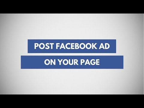 How to post facebook ad as a post on page | how to create page posts from facebook ads