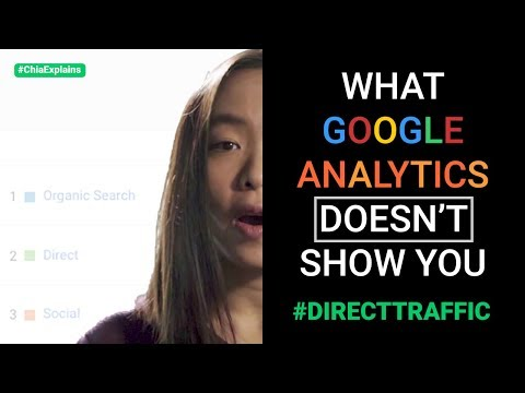 What google analytics doesn't show you (where your direct traffic comes from) | #chiaexplains