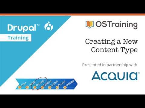 Drupal 8 beginner, lesson 22: creating a new content type