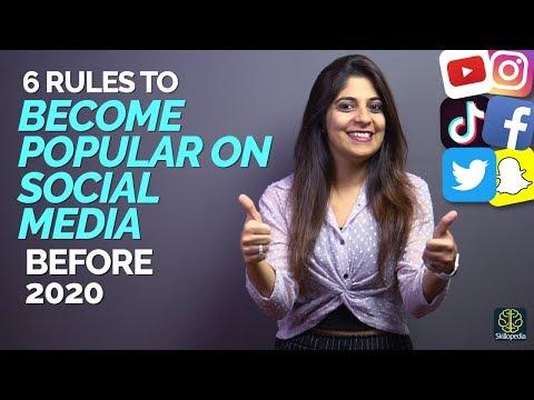How to be popular on youtube, instagram, tiktok   tips to grow on social media faster