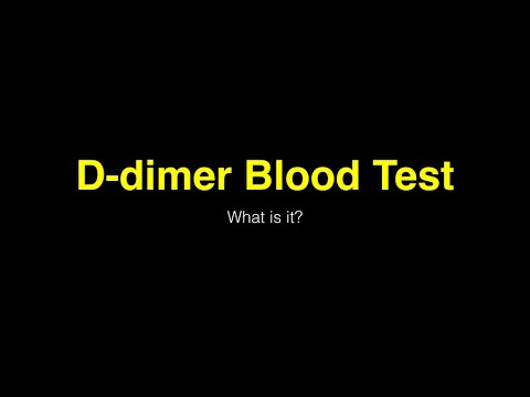 D dimer blood test