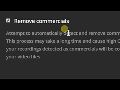 Skip commercials with plex dvr!