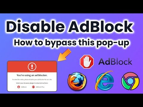 """How to disable adblock? how to remove """"please disable your ad blocker"""""""