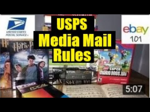 Ebay for beginners- how to use media mail for your ebay sales.. usps media mail rules