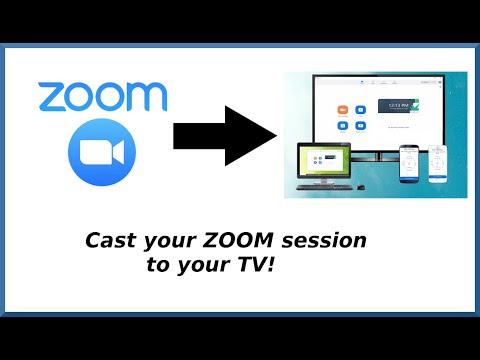 Cast your zoom meeting to your tv with chromecast - howto video