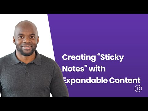 """Creating """"sticky notes"""" with expandable content with divi"""