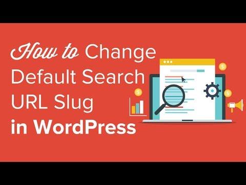 How to change the default search url slug in wordpress