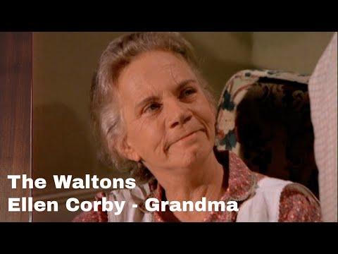 The waltons - ellen corby - 'grandma' - behind the scenes with judy norton
