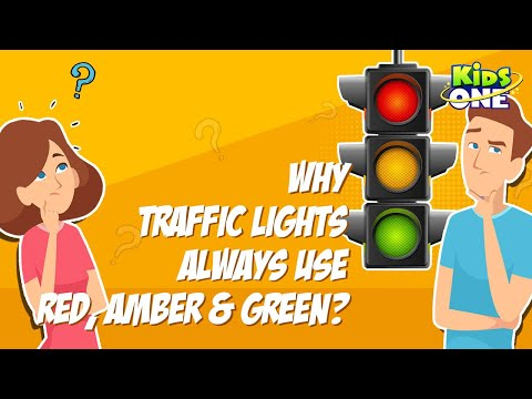 Why traffic lights always use red, amber and green?