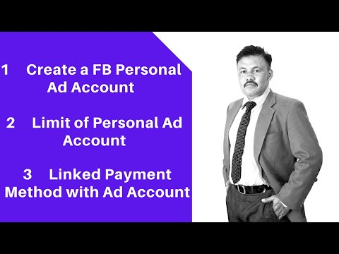 How to create a facebook personal ad account? | module 2 | 2020