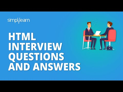 Html interview questions and answers | html interview preparation | simplilearn