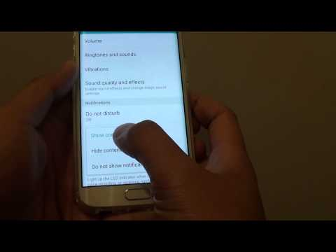 Samsung galaxy s6 edge: how to show or hide content on lock screen