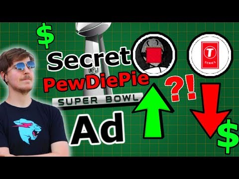 Does mrbeast have a pewdiepie super bowl ad? (2019 commercial)