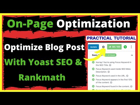 Optimize blog post content for seo with yoast seo & rankmath seo plugin   on-page seo tutorial 2020