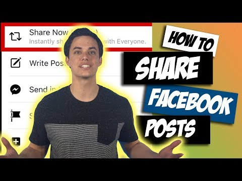 How to share a facebook post